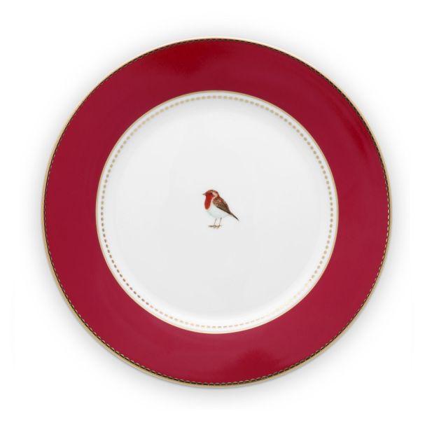 Love Birds Red 21cm Plate