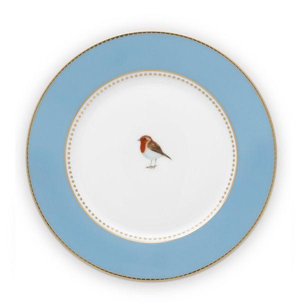 Love Birds Blue 17cm Plate