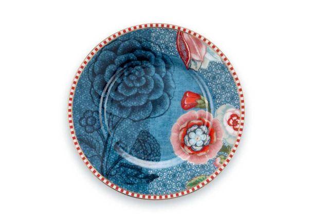 Petit Four Plate Spring to Life Blue 12cm