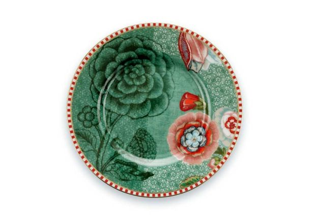 Petit Four Plate Spring to Life Green 12cm