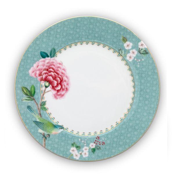 Blushing Birds Blue Plate 21cm
