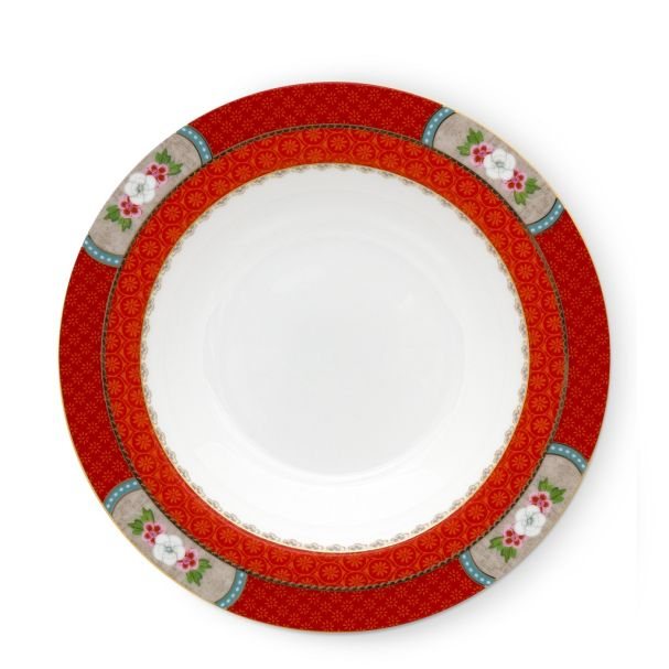 Soup Plate Blushing Birds Red 21.5cm