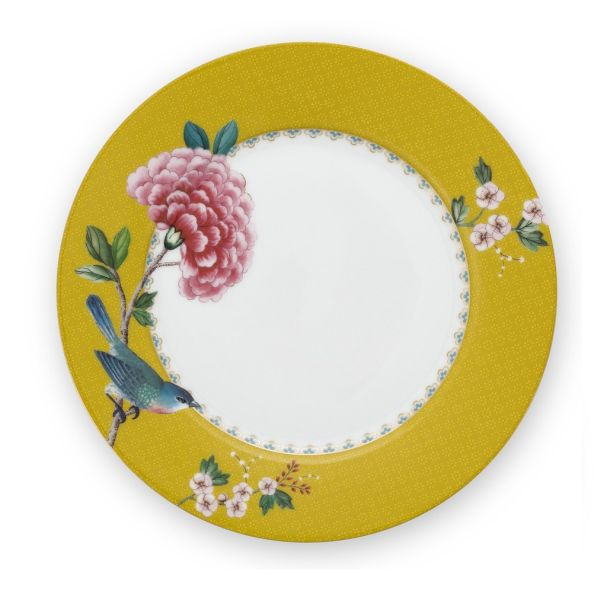 Blushing Birds Yellow Plate 21cm