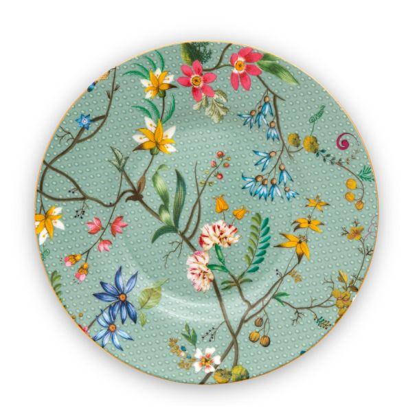 Pip Studio Jolie Flowers Blue 12cm Petit Four