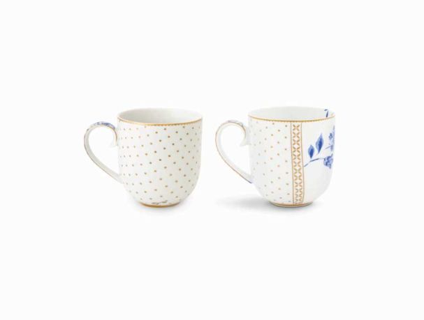 Royal White Set/2 Mugs Small White
