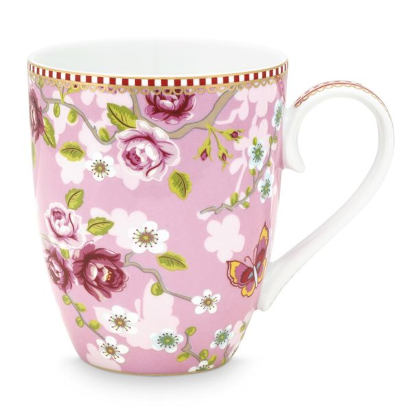 Eary Bird Chinese Rose Large Pink Mug