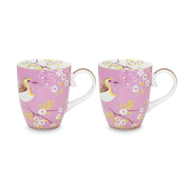 Early Bird Set/2 Large Pink Mugs
