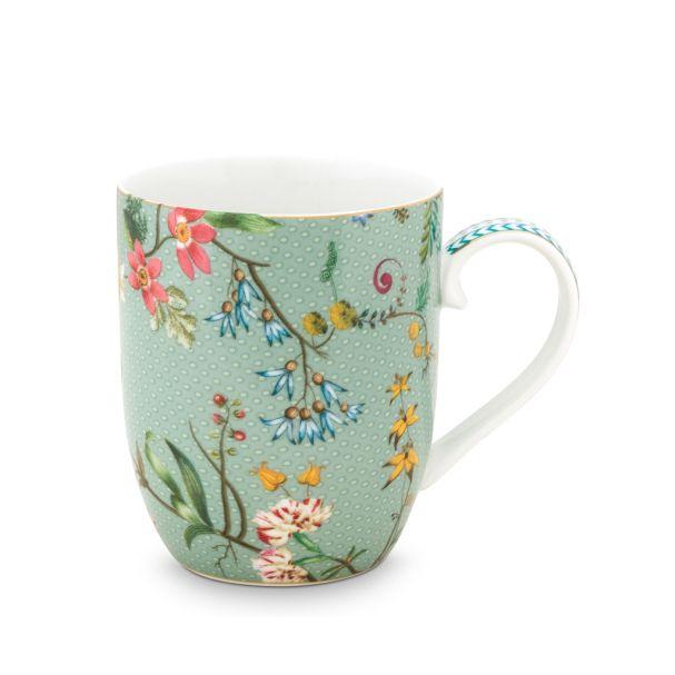 Pip Studio Small Jolie Flowers Blue 145ml Mug