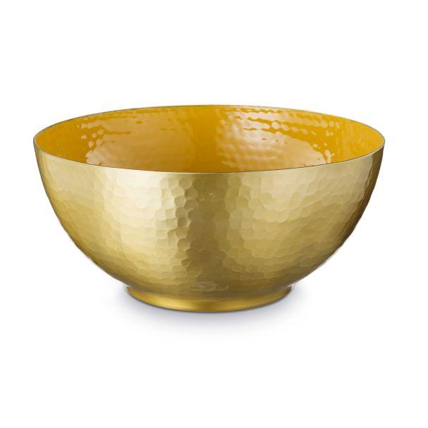 Blushing Birds Yellow Gold Enamelled Bowl 27cm