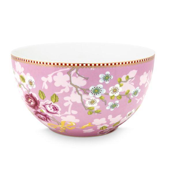 Bowl Chinese Rose Pink 18cm
