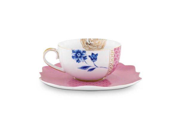 Teacup & Saucer Royal Pink