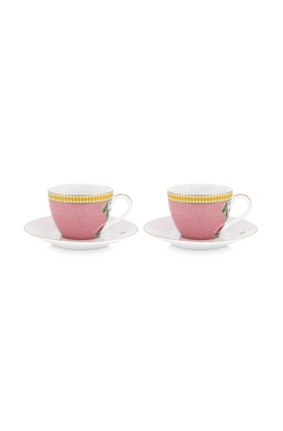 Set/2 Espresso Cups & Saucers La Majorelle Pink 120ml
