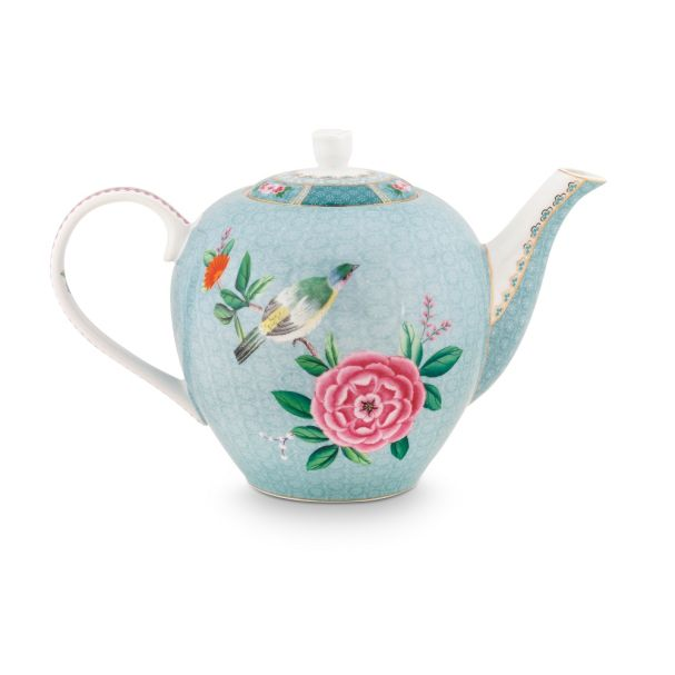 Blushing Birds Large Blue Teapot 1.6ltr