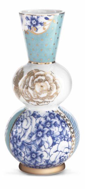 Pip Studio Vase Round Blue Royal 15 cm