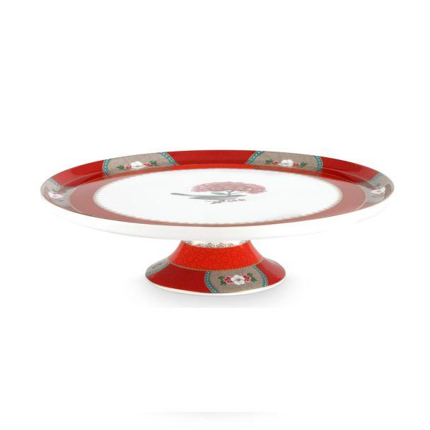 Cake Tray Blushing Birds Red 30.5cm