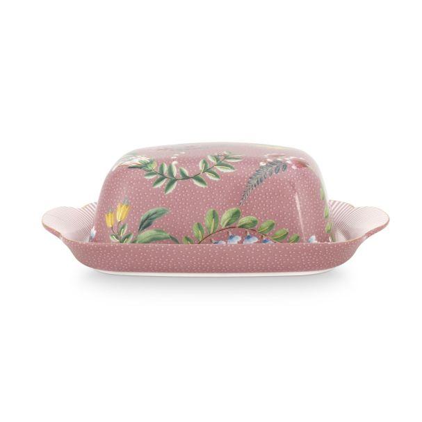 La Majorelle Pink Butter Dish