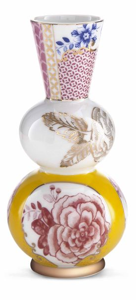 Pip Studio Vase Round Yellow Royal 15 cm