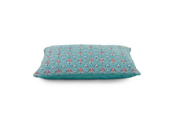 green indian flower cushion