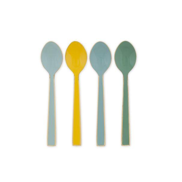 Blushing Birds Set of 4 Enamelled Multi Colour Spoons 16cm