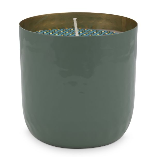 Blushing Birds Green Cup with Candle 9cm