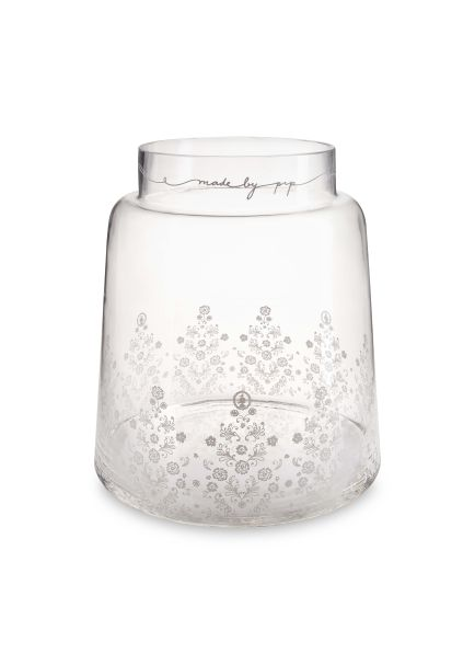 Pip Studio Clear Glass Vase Floral