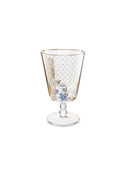 Water Glass Royal Golden Flower