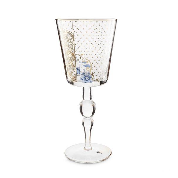 Wine Glass Royal Golden Flower