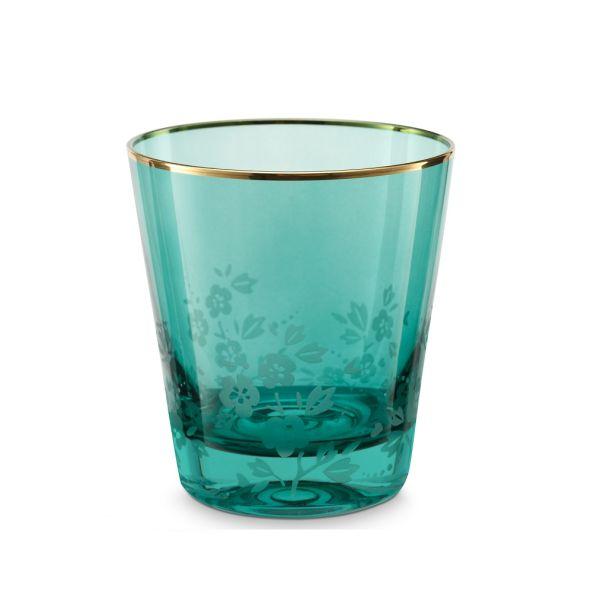 Water Glass Blushing Birds Green 260ml