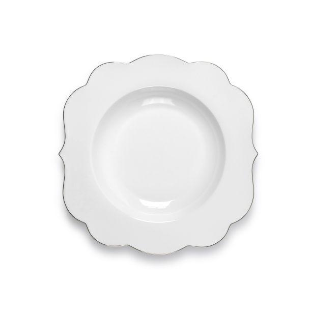 PiP Royal Pasta Plate White