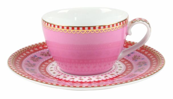 PiP Studio Espresso Cup & Saucer Pink