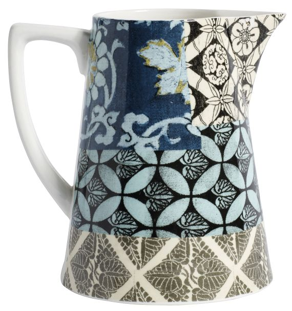 Patchwork Jug Small Blue Set/2