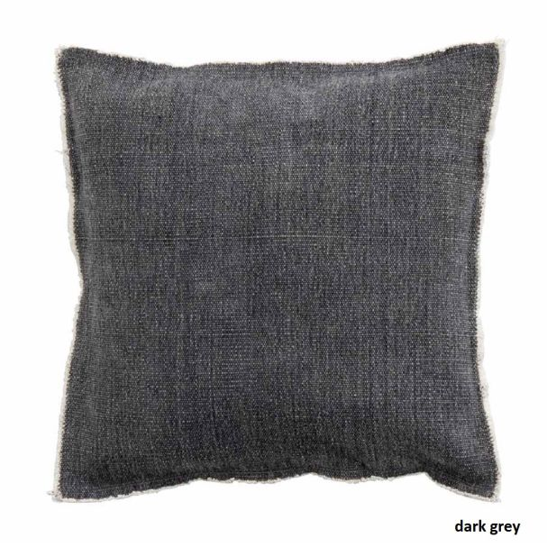 SS17 Cushion cover dark gry canvas backing 45x45 (/pc.Pk/5)