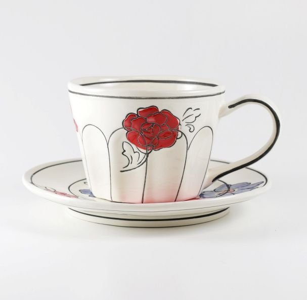 Molly Hatch Floral Tea Cup & Saucer