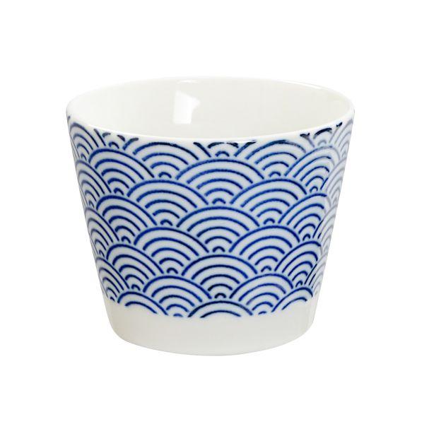 Porcelain 8.5x6.8cm Cup Wave Nippon Blue