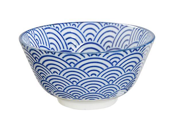 JP Rice Bowl 12x6.4cm Nippon Blue Wave