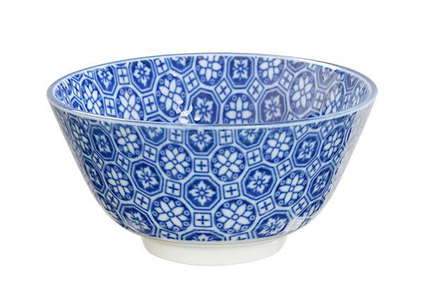 JP Rice Bowl 12x6.4cm Nippon Blue Flower