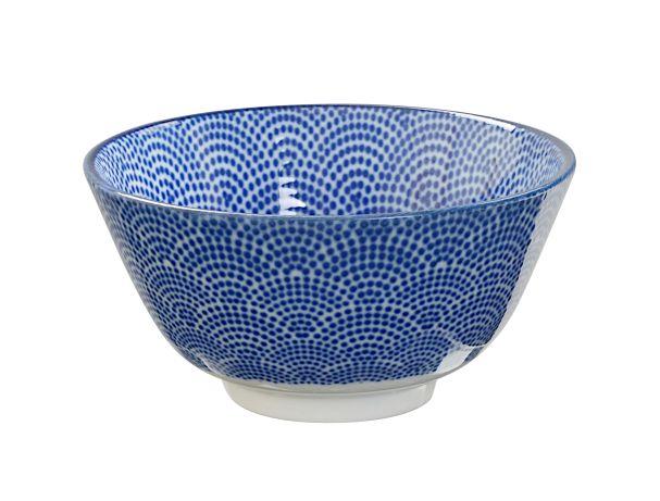 JP Rice Bowl 12x6.4cm Nippon Blue  Dots