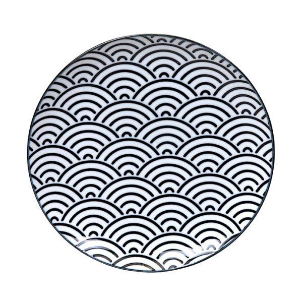 Tokyo Design Nippon Black Plate 16cm Wave