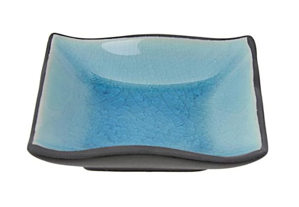 Tokyo Design Glassy Turquoise Blue Dish 9x9cm