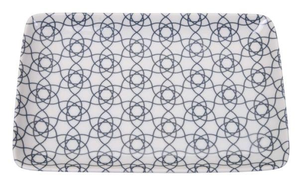 Tokyo Design Nippon Grey Plate 21x13.5cm Stripe