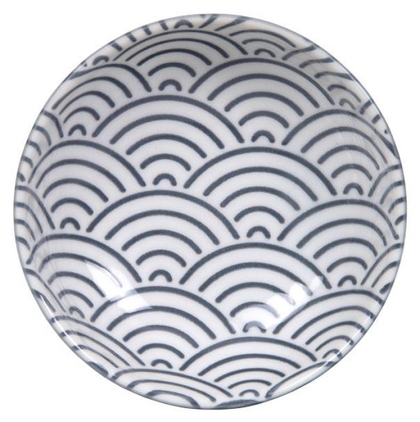 Tokyo Design Nippon Grey Dish 9.5x3cm Wave