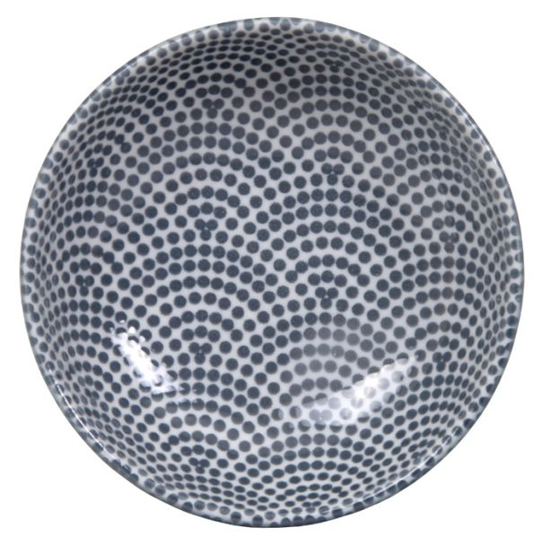 Tokyo Design Nippon Grey Dish 9.5x3cm Dot