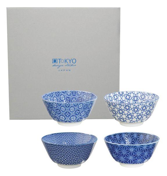 Nippon Blue Rice Bowl set4 12x6.4cm