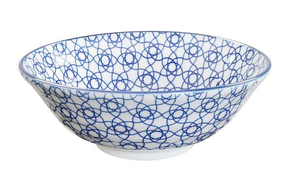 JP Soba Bowl 21x7.8cm  Nippon Blue Stripe