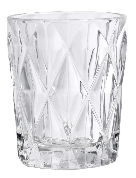DIAMOND drinking glass, S, clear