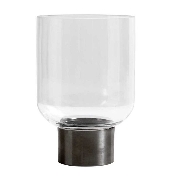 Nordal Ring Deco Vase Clear/Iron Base