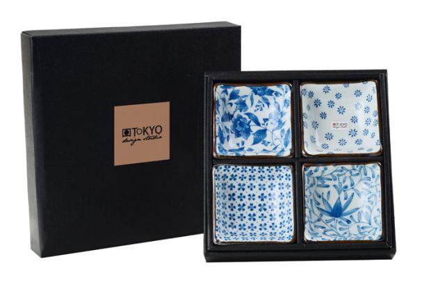Tokyo Design Blue Dish Set Of 48.5x8.5x3cm