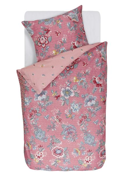 Berry bird Duvet set pink single