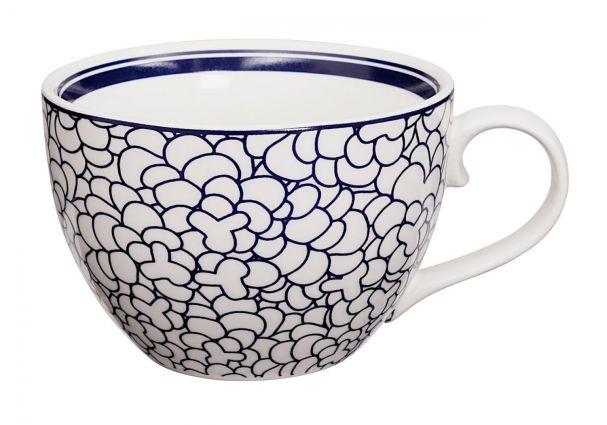 Bleu de'NÎmes Cappuccino Mug 10x6.8cm Leaf
