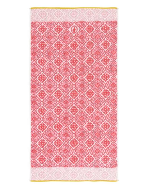 Jacquard Check Bath Towel Dark pink Pip Studio
